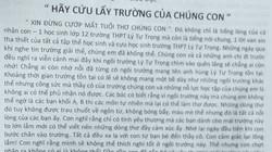TP.HCM: Hàng loạt học sinh viết tâm thư… cầu cứu