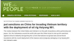 Cách ký tên ủng hộ kiến nghị trừng phạt Trung Quốc trên website Nhà Trắng