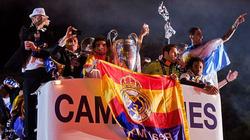 Chùm ảnh Real diễu hành mừng chức vô địch Champions League