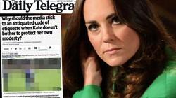 Báo Australia đăng ảnh Công nương Anh Kate lộ vòng ba
