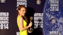 Mỹ Tâm nhận giải Âm nhạc thế giới
