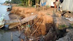 Đồng Tháp: Công bố tình trạng sạt lở trên sông Tiền