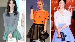 Chân váy xòe ngắn - bảo bối thời trang của sao Hàn