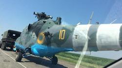 Cận cảnh trực thăng Mi-24 của Ukraine bị bắn thủng đuôi, cụt cánh quạt