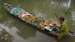 """""""Chợ nổi di động"""" vùng sông nước Cửu Long"""