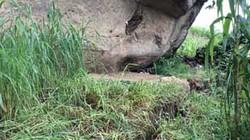 Vết nứt bất thường dài 150m xuất hiện trên sườn núi ở Lai Châu