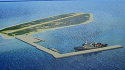 Đài Loan ráo riết chuyển máy móc hạng nặng tới Trường Sa xây cầu cảng