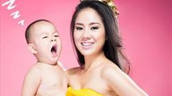 Lê Phương đi chụp ảnh cùng con một ngày trước khi đâm đơn li dị