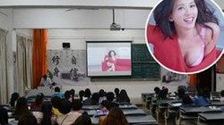 Clip Lâm Chí Linh khoe ngực được chiếu lộ liễu trên giảng đường Đại học