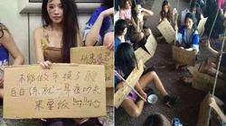 TQ: Người mẫu thất nghiệp mặc như ăn xin biểu tình trên phố