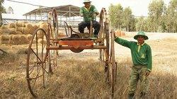 Nông dân xứ núi tự chế xe đạp 4 bánh chở rơm
