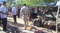 Xe chở người Việt bị tai nạn ở Campuchia