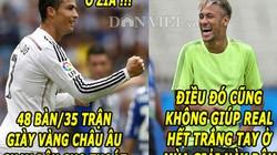"""ẢNH CHẾ: Neymar """"xỏ đểu"""" Ronaldo, David Moyes lại """"nổ"""""""