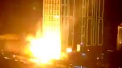 Hà Nội: Lại nổ hệ thống đèn của cao ốc 40 tầng, người đi đường tái mặt