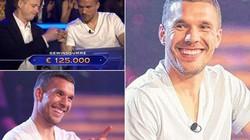 """Podolski """"kiếm bộn"""" nhờ thắng trong chương trình """"Ai là triệu phú"""""""