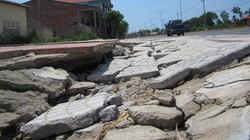 Quốc lộ 1A đoạn Đông Hà – TX.Quảng Trị: Vỉa hè vừa làm xong đã hỏng