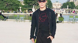 Nathan Lee khoe vẻ lãng tử trên phố Paris