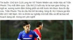 Tuyển thủ U23 Việt Nam bất ngờ qua đời vì tai nạn giao thông