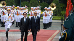 Toàn cảnh lễ đón Tổng thống Obama tại Phủ Chủ tịch
