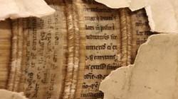 """""""Kho báu"""" bản thảo nghìn năm được dùng… để đóng bìa sách"""