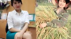 Cô gái xinh đẹp nổi tiếng vì bức hình đi gặt lúa