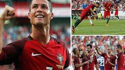 """Clip: Ronaldo lập cú đúp giúp Bồ Đào Nha """"hủy diệt"""" Estonia 7-0"""