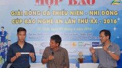 Quế Ngọc Hải tham gia bốc thăm giải bóng đá TN-NĐ Cup Báo Nghệ An
