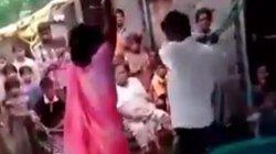Chồng trói vợ và tình địch đánh bầm dập trước mặt cả xóm