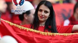 """Cận cảnh dàn mỹ nữ Albania """"cháy"""" hết mình trên khán đài EURO"""