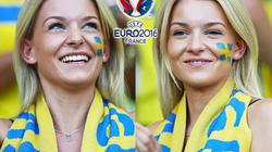 CĐV xinh đẹp của ĐT Thụy Điển hút hồn đấng mày râu