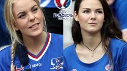 """""""Lác mắt"""" trước dàn CĐV nữ xinh đẹp của ĐT Iceland"""