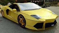 """""""Choáng"""" khi phát hiện Lamborghini Aventador làm từ... giấy"""