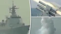 Lo chiến tranh, chiến hạm Trung Quốc bất ngờ bắn thử tên lửa gần Triều Tiên