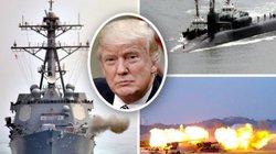 """Tàu chiến 3 nước vây quanh Triều Tiên bằng """"vành đai lửa"""""""