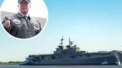 """Video: Mỹ hạ thủy siêu tàu đổ bộ """"khủng"""" nhất thế giới"""