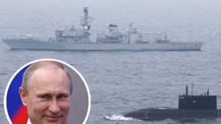 Tàu ngầm tấn công Nga tiến sát eo biển Anh