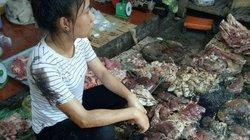 Chủ sạp thịt lợn bị hắt luyn đã bán hết số lợn tồn đọng