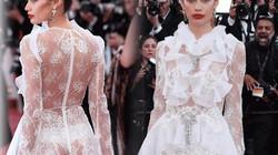 """Thiên thần nội y """"mặc như không"""" đến Cannes, lộ 80% cơ thể"""