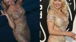 """""""Bom sex"""" Pamela Anderson diện váy hở hông, ướt đẫm trên biển"""