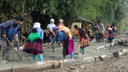 """Phụ nữ Lào Cai đua nhau thực hiện """"Nhà sạch, vườn đẹp"""""""