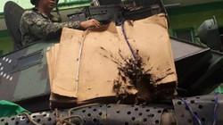 Xe bọc thép Philippnes dùng gỗ, bìa các tông chống đạn IS