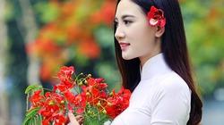 """Thiếu nữ đẹp như bức tranh bên loài hoa """"nữ hoàng tháng 6"""""""