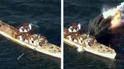 Triều Tiên tung ảnh tên lửa diệt hạm xuyên thủng tàu chiến