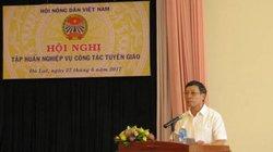 Hội NDVN tập huấn nghiệp vụ công tác tuyên giáo năm 2017