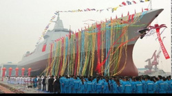 TQ hạ thủy tàu khu trục tên lửa 1 vạn tấn, mạnh nhất nhì châu Á