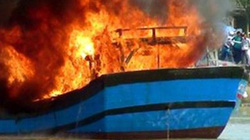 Cà Mau: Cháy tàu cá trên biển, thiệt hại hơn 2 tỷ đồng