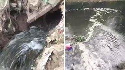 Hà Nội: Xí nghiệp môi trường xả thải bẩn ra môi trường?