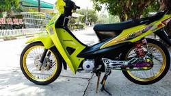 Ngắm Honda Wave S xanh độ vành vàng đẹp lung linh
