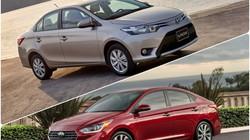 """Toyota Vios 1.5G vs Hyundai Accent 1.4AT: """"Tân binh"""" đấu """"Vua doanh số"""""""