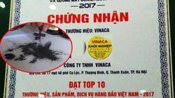 Vinaca bị thu hồi chứng nhận Top 10 Thương hiệu hàng đầu VN